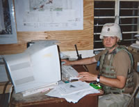 Owner - Bob Hinkle while serving in Baghdad Iraq.